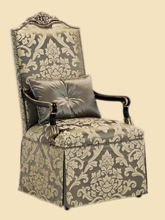 Marge Carson - Skirted Arm Chair - PSM46-2
