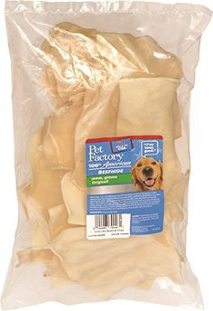 PET FACTORY 79046 USA Beef Hide Natural Chips, 12 oz * Discover this special dog product, click the image : Dog Treats