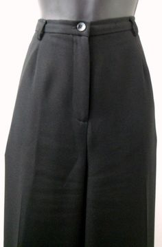 Karen Scott Black Lined Dress Pants Size 12 Average 2 Pockets Pleated Front