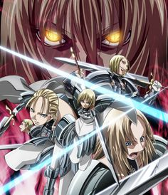 The Fab 5: Jean, Clare, me, Deneve, and Miria. We're pretty much the Claymore all-star team. jean-number9