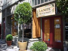La Note.  Tiny French cafe in Berkeley with wonderful breakfasts.  Stumbled upon it a dozen years ago.  I never miss an opportunity to return.