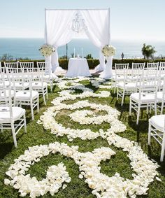 See Pinterest photos of beautiful wedding aisles for inspiration and décor ideas.