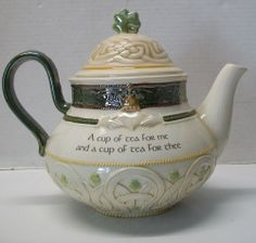 Grasslands Road Celtic Claddagh Teapot A cup of tea for me and a cup for thee
