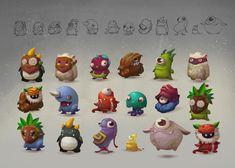 ArtStation - Monsters. Character design., Lena Kroshilina