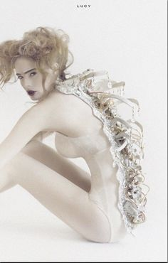 Avant garde fashion design with 3D spine detail; wearable art; sculptural fashion // Styled for Salon Sessions Studio