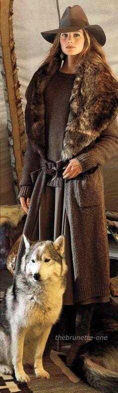 Sanne Vloet ~ Ralph Lauren -Love it but must be fake fur!