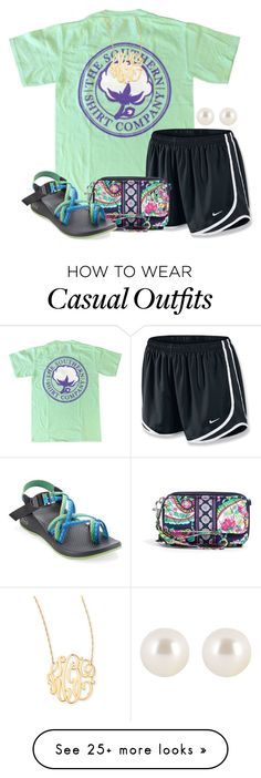 """Casual❤️"" by olivia73001 on Polyvore featuring NIKE, Vera Bradley, Henri Bendel, Jennifer Zeuner and Chaco"