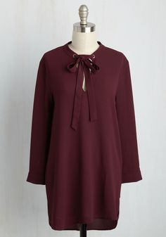 Notably Knowledgeable Top. Go on, broadcast your fashionable intelligence by simply flaunting this burgundy top! #red #modcloth