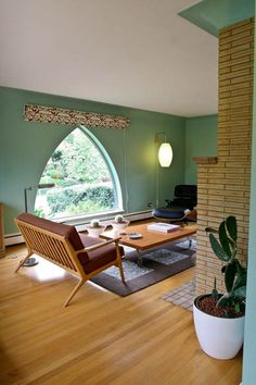 mid century modern living room. and the rest of the house is MCM