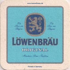 Vorderseite: Bierdeckel-Europa-Mitteleuropa-Deutschland-Bayern-München-Löwenbräu-Original
