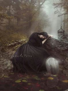 Gothic and fantasy Digital Art Photography, Moon Photography, Fantasy Photography, Dark Fantasy, Gothic Fantasy Art, Vampires, Gothic Wallpaper, Love Cartoon Couple, Gothic Images