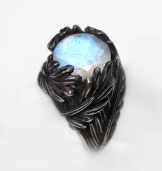 Swan Song. Moonstone & Sterling Silver. – Blood Milk Jewels