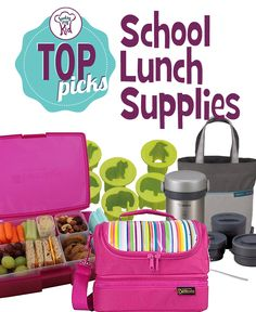 The start of the school year is right around the corner and the stores are filled with tons of back to school lunch supplies.  With so many choices, how do you choose?  We have curated a list of some of our favorite supplies below. All of these supplies are fun and functional.