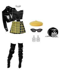 """""""Made him put up with my psycho ass for over 6 months & only spread my legs to let him hit once. 90s Outfit, Daily Outfit, Girl Outfits, Fashion Outfits, Womens Fashion, Polyvore Outfits, Kpop Girls, Fearsome Foursome, Topshop"""