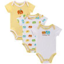 3pcs / lot Baby Boy roupas de menina de manga curta Leopard Print 2015 Verão Romper do bebê recém-nascido Próxima Macacões e Rompers produto do bebê alishoppbrasil