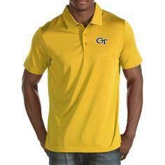 Antigua Men's Georgia Tech Yellow Jackets Gold Quest Polo, Size: Medium, Team