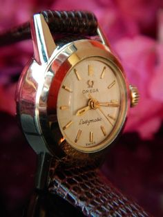 Omega Ladymatic Ladies Watch Vintage Automatic With NEW Leather Band Just For Men, Vintage Omega, Wristwatches, Vintage Watches, Omega Watch, Clocks, Watches For Men, 1950s, Band