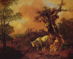 Thomas Gainsborough (1727-1788) landscape_with_a_woodcutter_and_milkmaid
