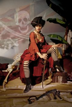 Sara Streeter as Scarlet Rose the Pirate Wench,
