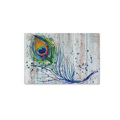InterestPrint Peacock Feathers Canvas Wall Art Print on W... https://www.amazon.com/dp/B01KT6FUPE/ref=cm_sw_r_pi_dp_x_9DuWzbJZVJQRW