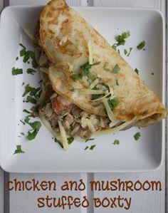 Chicken and Mushroom Stuffed Boxty ~ Lydia's Flexitarian Kitchen