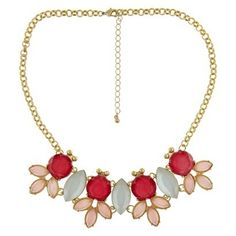 LOVE this look for a statement necklace!  $18 Target Women's Statement Necklace - Gold/Pink