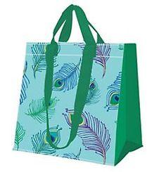 Peacock Feather Print Reusable Bag, Beallsflorida.com Reusable Shopping Bags, Reusable Bags, Feather Print, Peacock, Design, Peacocks, Peafowl