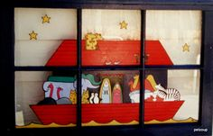 Noah's Ark through the looking glass. Great baby's nursery find!  www.etsy.com/petzoup