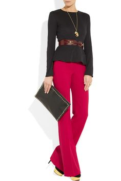 Wide leg pants? Yes pls. I am totes ready for this trend. Alexander McQueen, $955