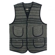 RRL Birdseye Striped Vest