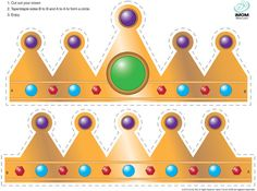 Use this template to make crowns for your children's celebration dinner. You can decorate them yourself or let your kids get creative.