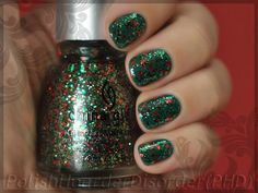 Christmas Nail of the Day. China Glaze Party Hearty over Essie Going Incognito.