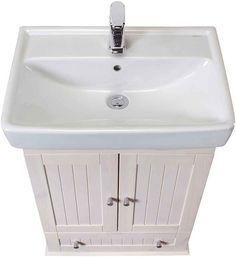 WELLTIME Waschtisch »Venezia Landhaus«, 2-tlg., Breite 60 cm, aus Massivholz online kaufen | OTTO Sink, Vanity, Bathroom, Home Decor, Vanity Basin, Farmhouse, Timber Wood, Sink Tops, Dressing Tables