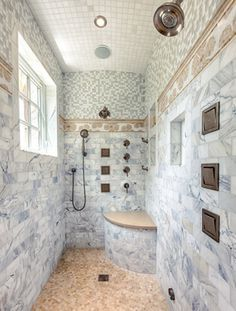 Great Shower With Rustic Elegance - transitional - bathroom - other metro - DeLeers Construction, Inc. Small Bathroom, Master Bathroom, Bathroom Ideas, Shower Bathroom, Bath Ideas, Bathroom Inspiration, Luxury Interior Design, Bathroom Interior Design, Powder Room Decor