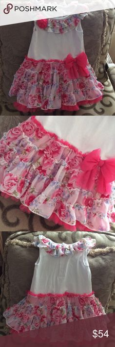 NEW baby girl 18 months gorgeous floral dress Beautiful, light weight, soft , stretchy , just adorable!!!! Dresses