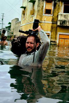Steve McCurry in monsoon waters