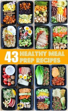 43 recipes for a healthy meal that make your life easier - all pin - 43 healthy meal recipes that make your life easier #the #a #easier #For #gesunde - #easier #French #healthy #Life #meal #Paleo #pin #Potatoes #Recipes<br> Lunch Meal Prep, Easy Meal Prep, Easy Meals, Meal Prep Menu, Diet Menu, Easy Cooking, Healthy Cooking, Healthy Eating, Healthy Life