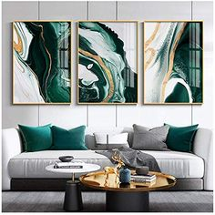 Rooms Home Decor, Home Decor Wall Art, Art Decor, Living Room Green, Living Room Art, Paintings For Living Room, Modern Living Room Decor, Living Room Pictures, Wall Art Pictures