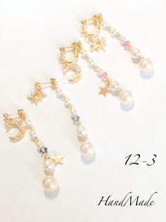 【再再販】【2way】キラキラMoon pierce/earring