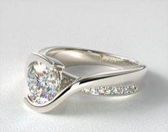 Modern Tension Set Engagement Rings | JamesAllen.com Engagement Rings Sale, Designer Engagement Rings, Matching Wedding Rings, Diamond Settings, Dream Ring, Diamond Design, Diamond Heart, Ring Designs, White Gold