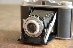 Vintage Camera .. 1950s Agfa Isolette. For sale in The Fancy Lamb shop at Etsy for $92.00. Gorgeous!