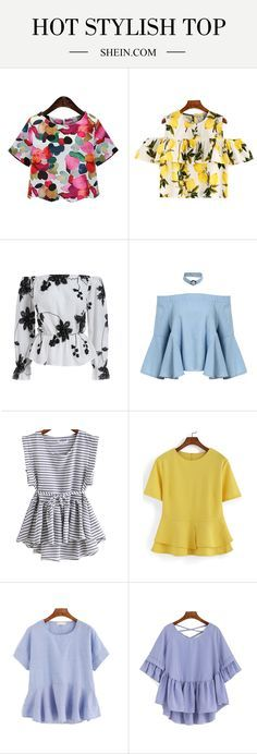 Love floral blouse, peplum blouse & ruffle blouse with jean & heel. More top blouse here up to 70% off!