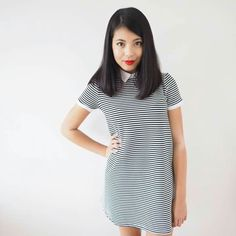 Stylewithme Short Sleeve Dresses, Dresses With Sleeves, Youtubers, High Neck Dress, Celebrity, Shirt Dress, Shirts, Tops, Fashion