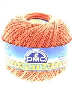 dmc petra 3 5608 orange petra perle cotton available from loveellie.com @LoveEllieBags