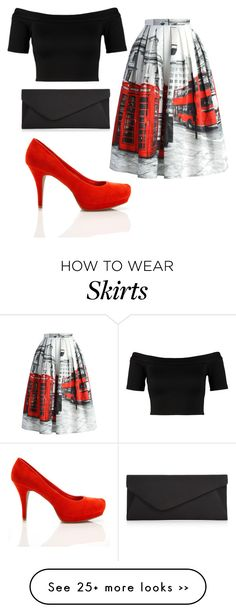 """London on a Skirt"" by secretlybonnie on Polyvore"
