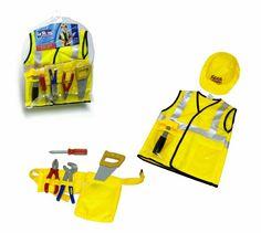 Disfraz de constructor, con accesorios.