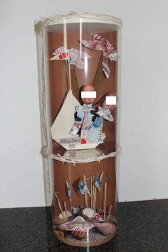 Cadeau personnalisé, mariage, origami billets de banque dans un tube ...