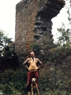 """Major Robin MacLaren is the owner of Kinrara House, Jane Maxwell, the 4th Duchess of Gordon's former country home.  He arranged with the Grants to row me over on Loch-an-Eilean to the ruined castle, the former """"Lair of the Wolf of Badenoch"""" who terrorized the neighborhood in the 14th century. (Author's photo)"""