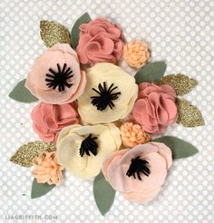 Make a simple yet stunning DIY felt flower with this pattern and tutorial from handcrafted lifestyle expert Lia Griffith.