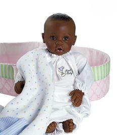 African American Realistic Baby Dolls | bi racial african american wedding cake topper my baby is biracial